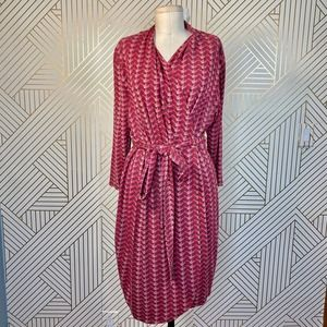 LK Bennett Lizzie Wrap Dress Pink Abstract Print